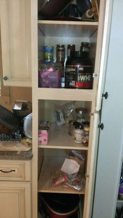 Our now very empty pantry!